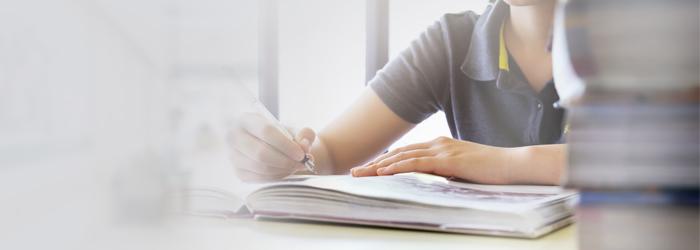 Pessoa estudando