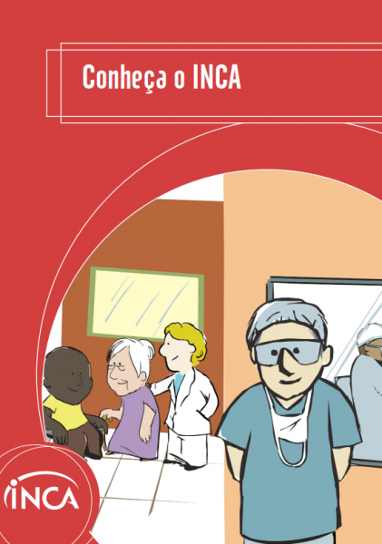 Pacientes aguardam sentados em uma sala de espera, enquanto são orientados por um funcionário, e um cirurgião está se preparando para uma cirurgia