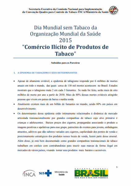 Documento preparado pela Secretaria Executiva da CONICQ para fortalecer ações desenvolvidas pelos parceiros.
