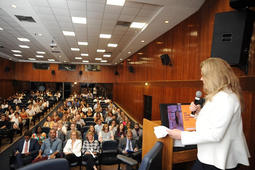 Ana Cristina Pinho apresentou a campanha do Dia mundial do Câncer