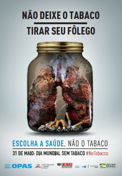 Fôlder Dia Mundial Sem Tabaco 2019 - Pote de vidro