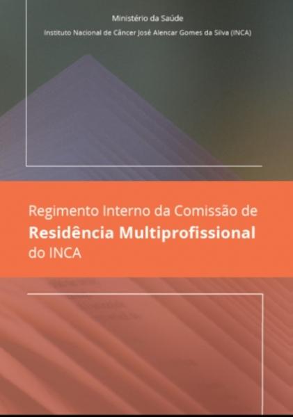 Capa do Regimento Interno da Coremu do INCA