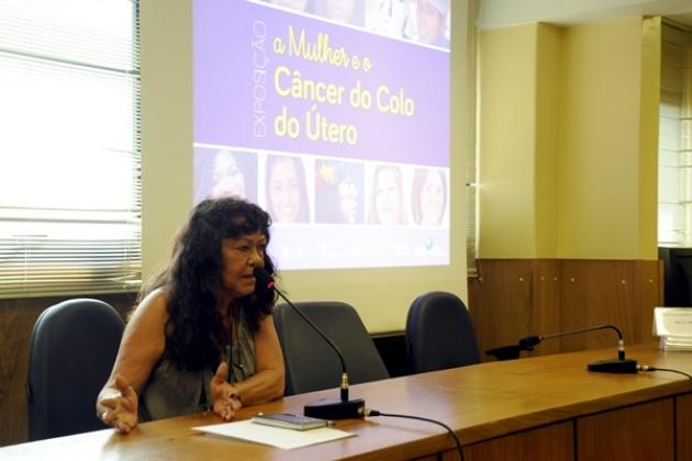 A mesa de debates foi iniciada pela médica e técnica da Divisão de Detecção Precoce da Coordenação de Prevenção e Vigilância (Conprev) do INCA Maria do Espírito Santo.