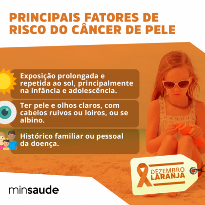 Principais fatores de risco para o câncer de pele