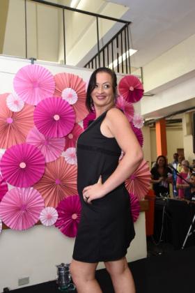 A paciente Fabiani Monteiro foi um das que participaram do desfile de moda