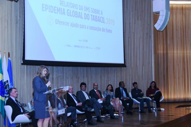Ana Cristina Pinho, diretora-geral do INCA, destacou comprometimento do Ministério da Saúde com o controle do tabagismo