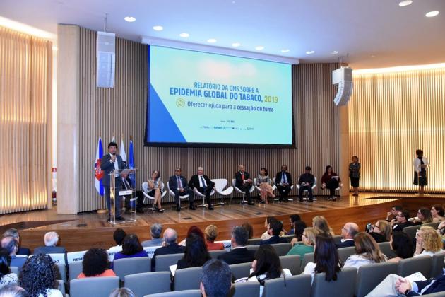 Lançamento do Relatório da OMS sobre epidemia global do tabagismo, no Rio de Janeiro, foi reconhecimento do empenho do Brasil na luta pelo controle do tabaco