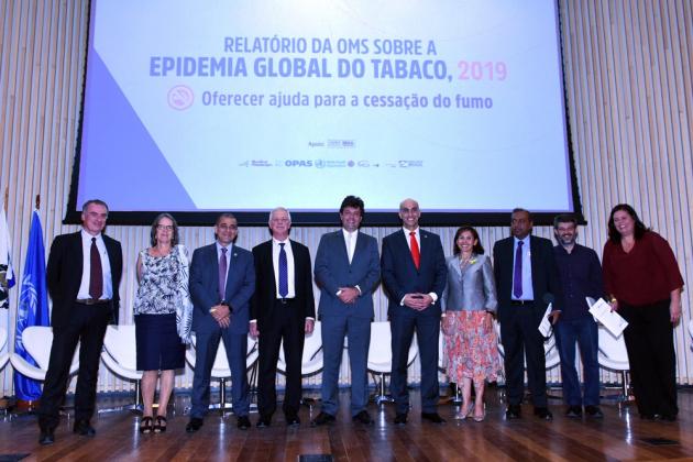 Autoridades em saúde do Brasil e do exterior participaram do lançamento do Relatóorio da OMS sobre epidemia global de tabagismo