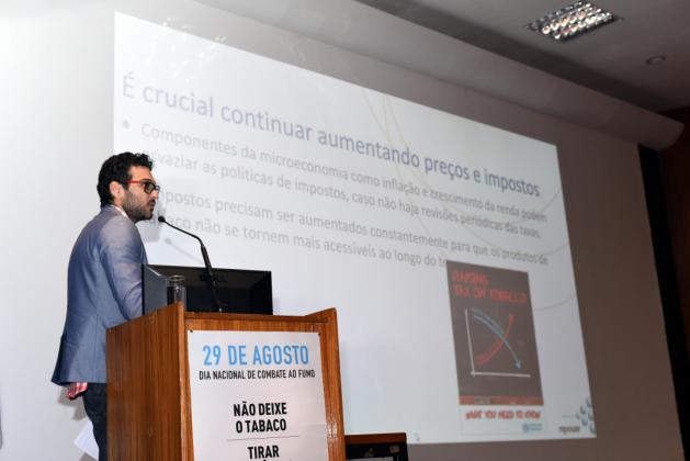 Consultor da Organização Pan-americana da Saúde, Diogo Alves disse que falta apoio para deixar de fumar na maioria dos países de baixa e média rendas