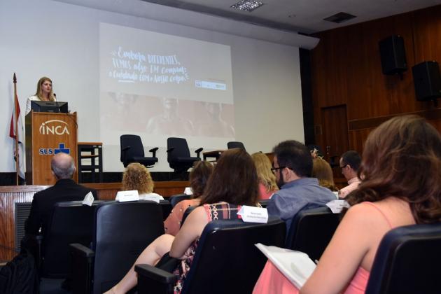 Diretora-geral, Ana Cristina Pinho, apresentou a campanha do INCA/MS para o Outubro Rosa 2019