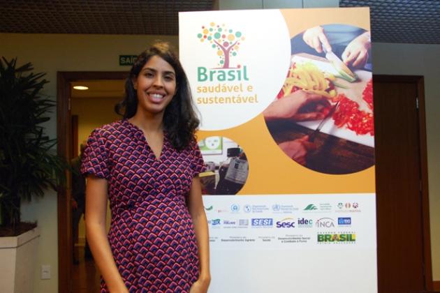 A apresentadora Bela Gil apoia a campanha e também esteve no evento de lançamento