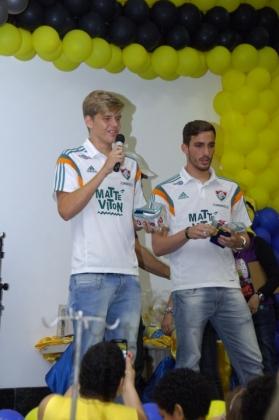 Jogadores Matheus e Alexandre da categoria Sub-20 do Fluminense