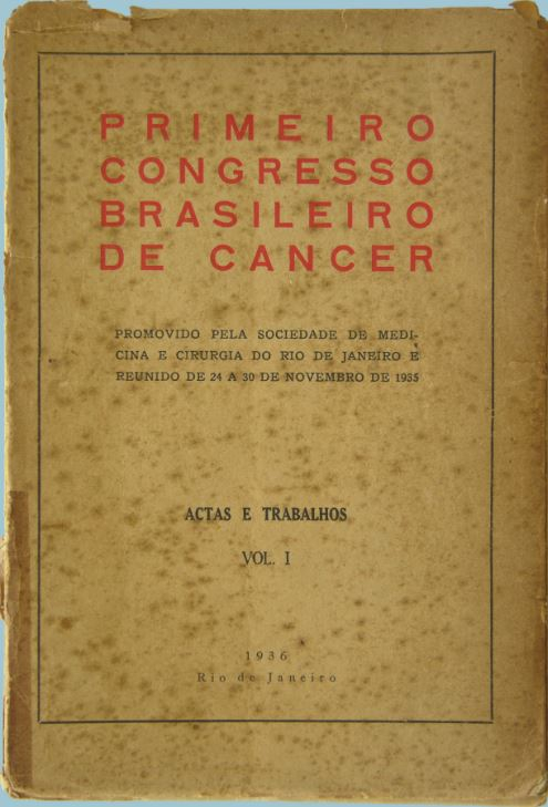 Publicação do 1º Congresso Brasileiro de Cancerologia