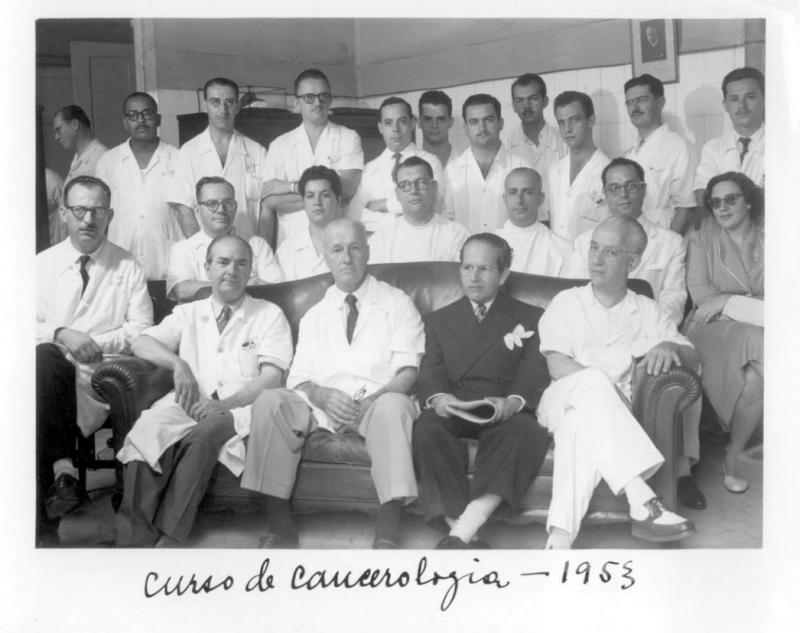 Turma do curso de cancerologia, 1953