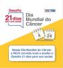 """Selo Desafio 21 dias para sua saúde"""". Imagem de calendários de 4 a 24 de fevereiro."""