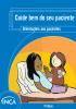 """Capa com o layout azul e o seguinte título na parte superior: """"Cuide bem do seu paciente. Orientações aos pacientes"""". Na parte inferior esquerda, a ilustração de uma mulher recebendo um comprimido encostada nas almofadas e uma outra mulher em pé segurando um copo de água."""