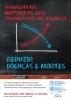 """Cartaz com efeito de lousa escolar de giz apresentando gráfico com título """"aumentar impostos dos produtos de tabaco). O gráfico traz seta descendente em azul (doenças e mortes) e seta ascendente em vermelho (impostos dos produtos de tabaco)."""