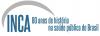 Logotipo INCA 80 anos de história na saúde pública do Brasil
