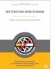 No topo da página, está escrito Ministério da Saúde e Instituto Nacional de Câncer José Alencar Gomes da Silva (INCA). Abaixo, vem a categoria da publicação escrito Nota técnica para o controle do tabagismo. Logo em seguida, uma linha divide outro título:  tabaco: uma ameaça ao desenvolvimento. Embaixo do título é mostrada uma ilustração de um cigarro à frente de um globo e na frente do cigarro uma linha corta mostrando sinal de proibido.