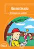 """Capa com o layout laranja e o seguinte título na parte superior: """"Quimioterapia. Orientações aos pacientes"""". Na parte inferior esquerda, uma ilustração de crianças brincando."""