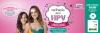 """A atriz Carolina Kasting e sua filha Cora, aparentemente com 10 anos, abraça a mãe e estão a frente de um fundo rosa. Ao lado um balão temático branco com os dizeres """"Vacinação contra a HPV - Proteja o futuro de quem você mais ama"""""""
