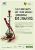 No cartaz há uma imagem de um narguilé com bitucas de cigarro dentro.