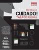 """Cartaz com ilustração de criminoso oferecendo alguns produtos ilegais, como armas, e produtos de tabaco. Títutlo: """"#NoTobacco. Cuidado! Tabaco ilegal!"""""""