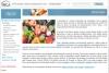 Na imagem temos um print da página do site, onde existem três paragráfos explicando a importância da nutrição para a prevenção do câncer. Alinhado ao texto à esquerda, temos uma imagem com frutas e verduras.